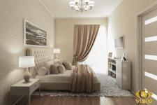3D-визуализация спальной в квартире Греции